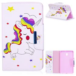 Rainbow Unicorn Folio Flip Stand Leather Wallet Case for Samsung Galaxy Tab A 8.0 (2017) T380 T385 A2 S
