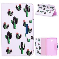 Cactus Folio Flip Stand Leather Wallet Case for Samsung Galaxy Tab A 8.0 (2017) T380 T385 A2 S