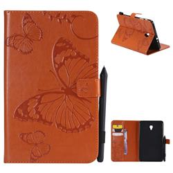 Embossing 3D Butterfly Leather Wallet Case for Samsung Galaxy Tab A 8.0 (2017) T380 T385 A2 S - Orange