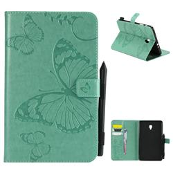 Embossing 3D Butterfly Leather Wallet Case for Samsung Galaxy Tab A 8.0 (2017) T380 T385 A2 S - Green