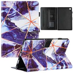 Starry Blue Stitching Color Marble Leather Flip Cover for Samsung Galaxy Tab A7 10.4 (2020) T500 T505