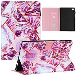 Dream Purple Stitching Color Marble Leather Flip Cover for Samsung Galaxy Tab A7 10.4 (2020) T500 T505