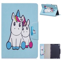 Couple Unicorn Folio Flip Stand Leather Wallet Case for Samsung Galaxy Tab A 10.1 (2019) T510 T515