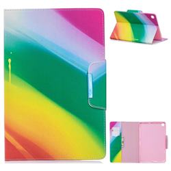 Rainbow Folio Flip Stand Leather Wallet Case for Samsung Galaxy Tab A 10.1 (2019) T510 T515