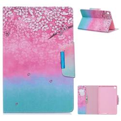 Gradient Flower Folio Flip Stand Leather Wallet Case for Samsung Galaxy Tab A 10.1 (2019) T510 T515