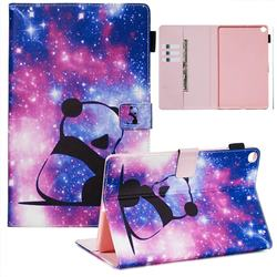 Panda Baby Matte Leather Wallet Tablet Case for Samsung Galaxy Tab A 10.1 (2019) T510 T515