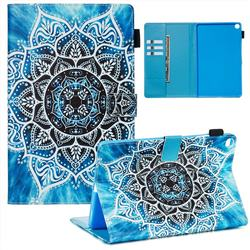 Underwater Mandala Flower Matte Leather Wallet Tablet Case for Samsung Galaxy Tab A 10.1 (2019) T510 T515