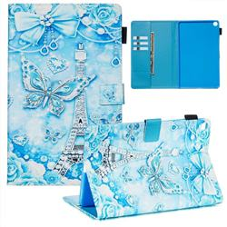 Tower Butterfly Matte Leather Wallet Tablet Case for Samsung Galaxy Tab A 10.1 (2019) T510 T515