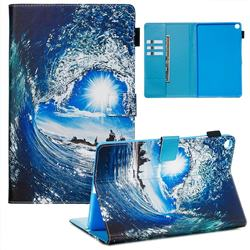 Waves and Sun Matte Leather Wallet Tablet Case for Samsung Galaxy Tab A 10.1 (2019) T510 T515