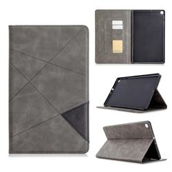 Binfen Color Prismatic Slim Magnetic Sucking Stitching Wallet Flip Cover for Samsung Galaxy Tab A 10.1 (2019) T510 T515 - Gray