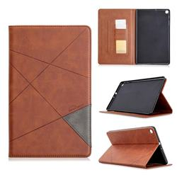 Binfen Color Prismatic Slim Magnetic Sucking Stitching Wallet Flip Cover for Samsung Galaxy Tab A 10.1 (2019) T510 T515 - Brown