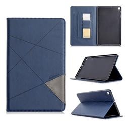 Binfen Color Prismatic Slim Magnetic Sucking Stitching Wallet Flip Cover for Samsung Galaxy Tab A 10.1 (2019) T510 T515 - Blue