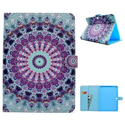 Mint Green Mandala Flower Folio Flip Stand Leather Wallet Case for Samsung Galaxy Tab 4 10.1 T530 T531 T533 T535