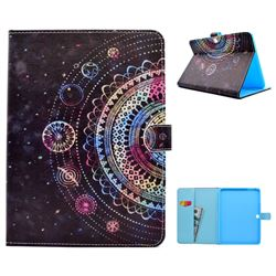 Universe Mandala Flower Folio Flip Stand Leather Wallet Case for Samsung Galaxy Tab 4 10.1 T530 T531 T533 T535