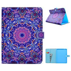 Purple Mandala Flower Folio Flip Stand Leather Wallet Case for Samsung Galaxy Tab 4 10.1 T530 T531 T533 T535