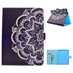 Half Lace Mandala Flower Folio Flip Stand Leather Wallet Case for Samsung Galaxy Tab 4 10.1 T530 T531 T533 T535