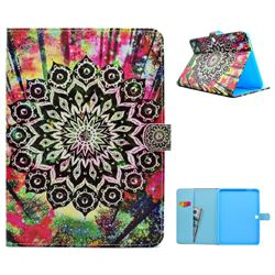 Colorful Mandala Flower Folio Flip Stand Leather Wallet Case for Samsung Galaxy Tab 4 10.1 T530 T531 T533 T535