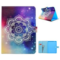 Sky Mandala Flower Folio Flip Stand Leather Wallet Case for Samsung Galaxy Tab 4 10.1 T530 T531 T533 T535