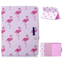 Red Flamingo Folio Flip Stand Leather Wallet Case for Samsung Galaxy Tab 4 10.1 T530 T531 T533 T535