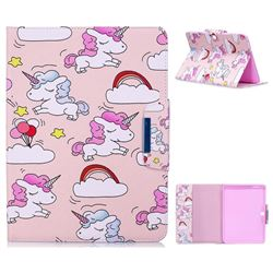 Cloud Unicorn Folio Flip Stand Leather Wallet Case for Samsung Galaxy Tab 4 10.1 T530 T531 T533 T535