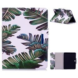 Green Leaves Folio Flip Stand Leather Wallet Case for Samsung Galaxy Tab 4 10.1 T530 T531 T533 T535