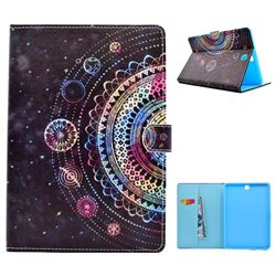 Universe Mandala Flower Folio Flip Stand Leather Wallet Case for Samsung Galaxy Tab A 9.7 T550 T555