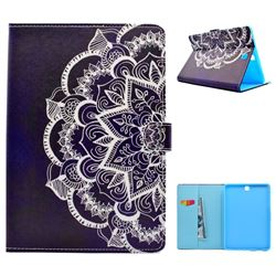 Half Lace Mandala Flower Folio Flip Stand Leather Wallet Case for Samsung Galaxy Tab A 9.7 T550 T555