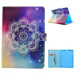 Sky Mandala Flower Folio Flip Stand Leather Wallet Case for Samsung Galaxy Tab A 9.7 T550 T555