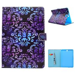 Royal Mandala Flower Folio Flip Stand Leather Wallet Case for Samsung Galaxy Tab A 9.7 T550 T555