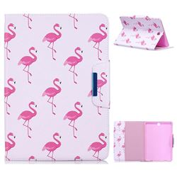 Red Flamingo Folio Flip Stand Leather Wallet Case for Samsung Galaxy Tab A 9.7 T550 T555