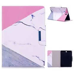 Triangle Marble Folio Flip Stand Leather Wallet Case for Samsung Galaxy Tab A 9.7 T550 T555