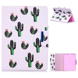 Cactus Folio Flip Stand Leather Wallet Case for Samsung Galaxy Tab A 9.7 T550 T555