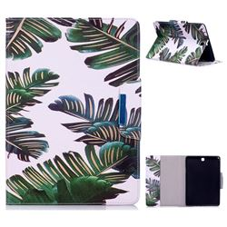 Green Leaves Folio Flip Stand Leather Wallet Case for Samsung Galaxy Tab A 9.7 T550 T555