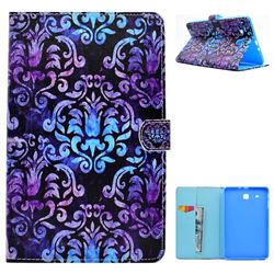 Royal Mandala Flower Folio Flip Stand Leather Wallet Case for Samsung Galaxy Tab E 9.6 T560 T561