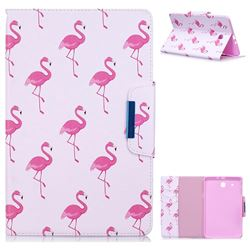 Red Flamingo Folio Flip Stand Leather Wallet Case for Samsung Galaxy Tab E 9.6 T560 T561
