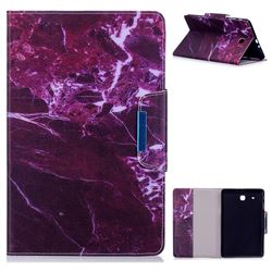 Red Marble Folio Flip Stand Leather Wallet Case for Samsung Galaxy Tab E 9.6 T560 T561
