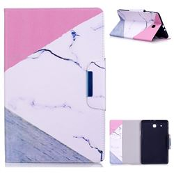 Triangle Marble Folio Flip Stand Leather Wallet Case for Samsung Galaxy Tab E 9.6 T560 T561