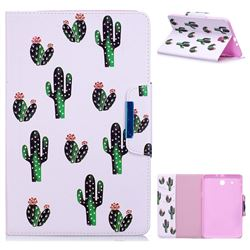 Cactus Folio Flip Stand Leather Wallet Case for Samsung Galaxy Tab E 9.6 T560 T561
