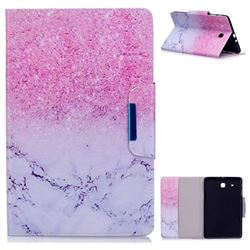 Sand Marble Folio Flip Stand Leather Wallet Case for Samsung Galaxy Tab E 9.6 T560 T561
