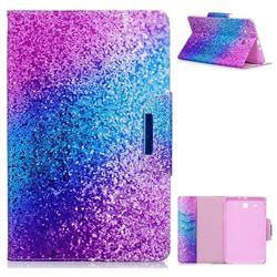 Rainbow Sand Folio Flip Stand Leather Wallet Case for Samsung Galaxy Tab E 9.6 T560 T561