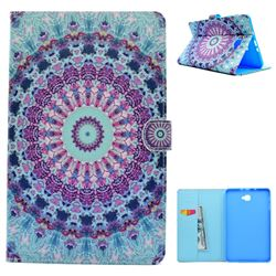 Mint Green Mandala Flower Folio Flip Stand Leather Wallet Case for Samsung Galaxy Tab A 10.1 T580 T585