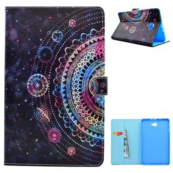Universe Mandala Flower Folio Flip Stand Leather Wallet Case for Samsung Galaxy Tab A 10.1 T580 T585