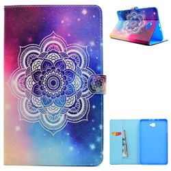 Sky Mandala Flower Folio Flip Stand Leather Wallet Case for Samsung Galaxy Tab A 10.1 T580 T585