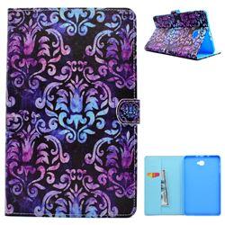 Royal Mandala Flower Folio Flip Stand Leather Wallet Case for Samsung Galaxy Tab A 10.1 T580 T585