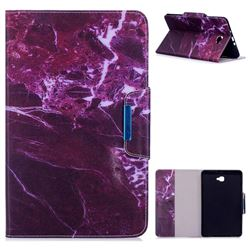 Red Marble Folio Flip Stand Leather Wallet Case for Samsung Galaxy Tab A 10.1 T580 T585