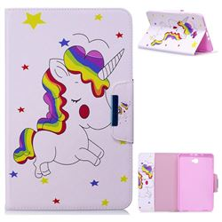 Rainbow Unicorn Folio Flip Stand Leather Wallet Case for Samsung Galaxy Tab A 10.1 T580 T585