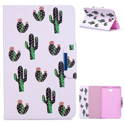 Cactus Folio Flip Stand Leather Wallet Case for Samsung Galaxy Tab A 10.1 T580 T585