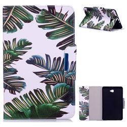 Green Leaves Folio Flip Stand Leather Wallet Case for Samsung Galaxy Tab A 10.1 T580 T585