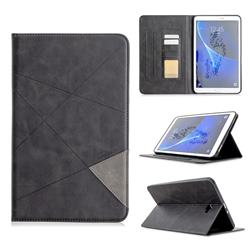 Binfen Color Prismatic Slim Magnetic Sucking Stitching Wallet Flip Cover for Samsung Galaxy Tab A 10.1 T580 T585 - Black