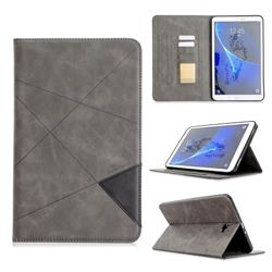 Binfen Color Prismatic Slim Magnetic Sucking Stitching Wallet Flip Cover for Samsung Galaxy Tab A 10.1 T580 T585 - Gray